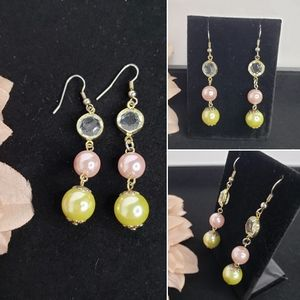 3 Tier Multi-colored Dangle Earrings